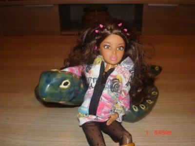 Alexis et Sophie avec la tortue