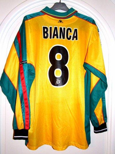 Saison 2000-2001 - BIANCALANI n°8 (Dos)