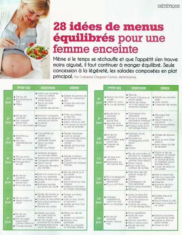 idée menu femme enceinte 28 menus vitaminés pour une femme enceinte   Découvrez le monde de  idée menu femme enceinte