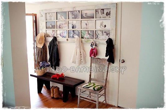 cr er un cadre photo r cup avec une vieille porte. Black Bedroom Furniture Sets. Home Design Ideas