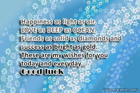 La chance, c'est le bonheur, c'est la face rébarbative et noire du destin qui tout à coup s'illumine d'un charmant sourire. !!!