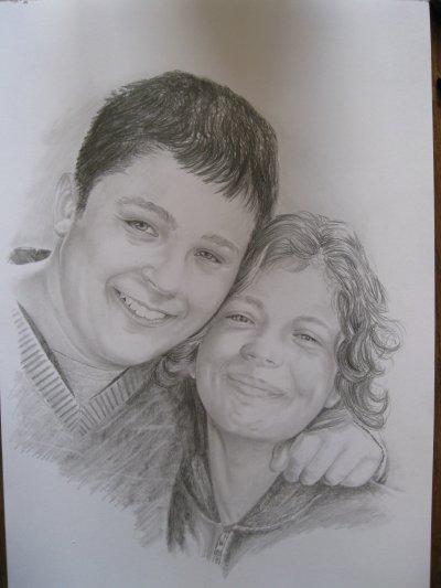 Portrait au crayon