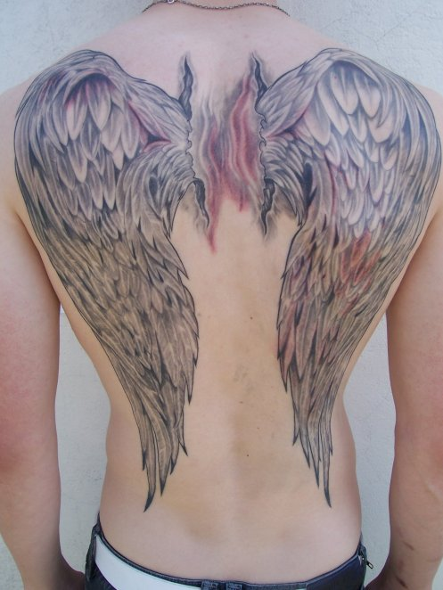 Ailes d 39 ange dom tattoo 76580 le trait 06 81 78 67 04 for Tableau aile d ange