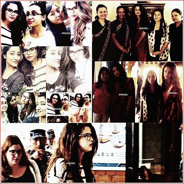 23/05/14: Selena en voyage pour l'Unicef a visité une école du Nepal (Asie).