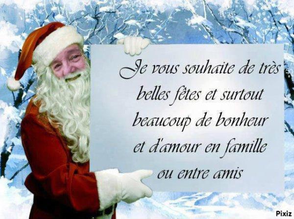 je vous souhaite à toutes et tous  de joyeuse fêtes de fin d'année