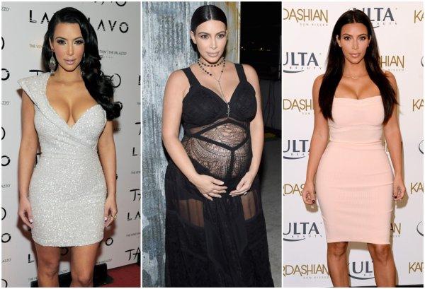 Kim Kardashian & Kanye West & Leur Enfant North & Saint