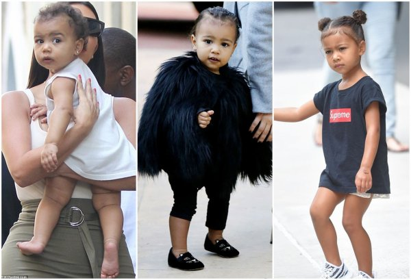 Kim Kardashian & Kanye West & Leur Enfant North & Saint