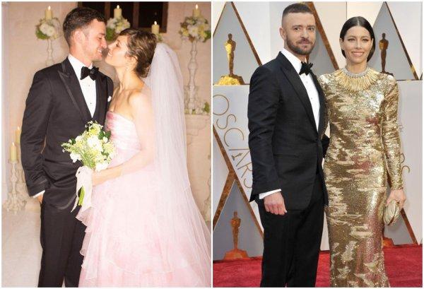 Jessica Biel & Justin Timberlake  & leur fils Silas
