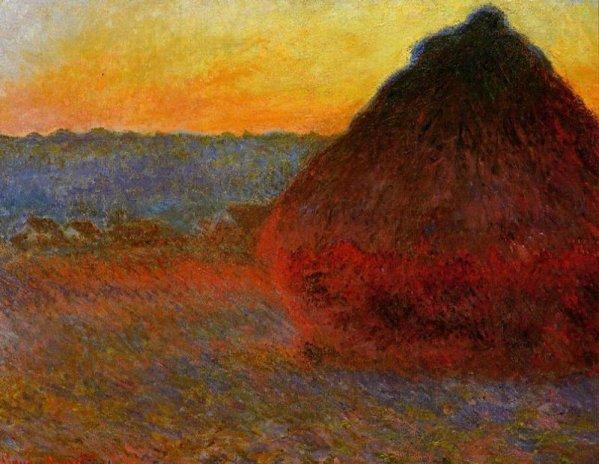 """1891--"""" Meule, soleil couchant """"-----de-----CLAUDE MONET - Blog de  passion-impressionniste"""