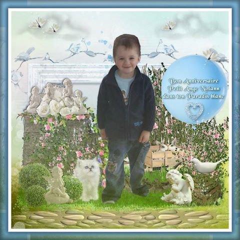 Bon Anniversaire petit frère (12 ans) merci pour les montages bisous Maëlys