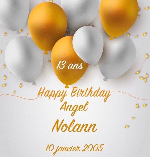 10 Janvier 2005 - 10 Janvier 2018... Tu aurais 13 Ans Joyeux Anniversaire Petit Frère