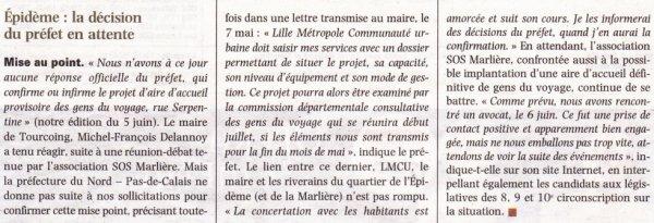 La Voix du Nord – 09.06.2012