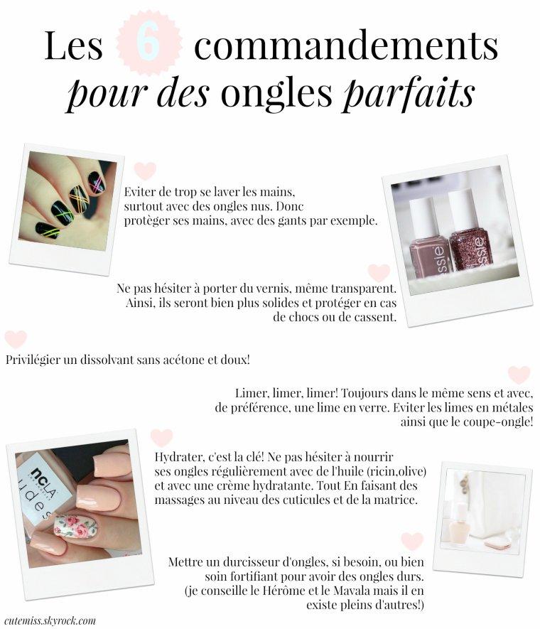 6 conseils quotidients pour des ongles parfaits ♥