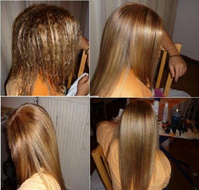 Coloration cheveux ou meches
