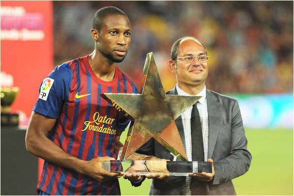 FC Barcelone 5-0 Naples 22/08/11 Seydou Keita désigné meilleur joueur du Match