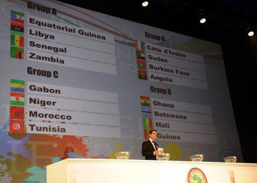 Tirage au sort de la Coupe d'Afrique des Nations CAN 2012 Le Mali dans le Groupe D  avec le Ghana, Guinée,Botswana