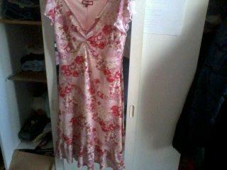 robe rose a fleure