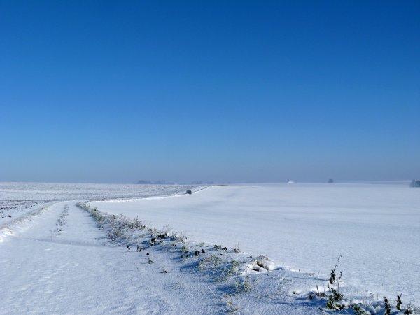 A la neige ....