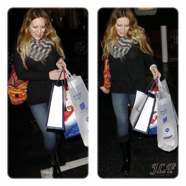 Hilary Duff le 22 décembre 2010