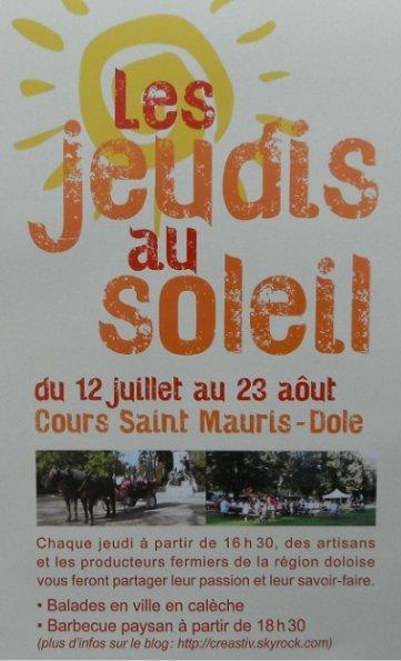 Les Jeudis au Soleil Cours Saint-Mauris à Dole