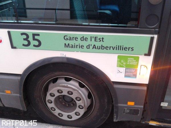SPECIAL LIGNE 35 { Mairie d'Aubervilliers - Gare de l'Est }