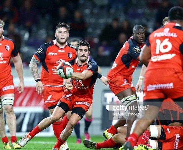 Maillot Stade Toulousain #9 porté par Sébastien BÉZY en Top 14 2015/2016