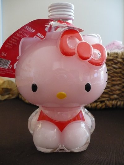 Sirop hello kitty saveur ICE cream fraise