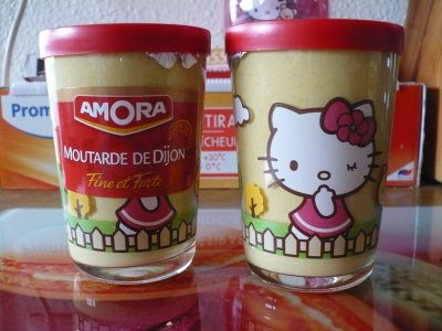 Pot de moutarde hello kitty