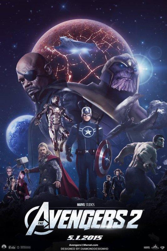 Affiche Avengers 2 réalisée par des fans