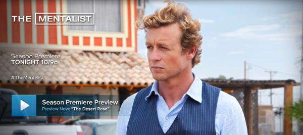 La saison 6 du Mentalist c'est ce soir en avant-première sur CBS à 22h !