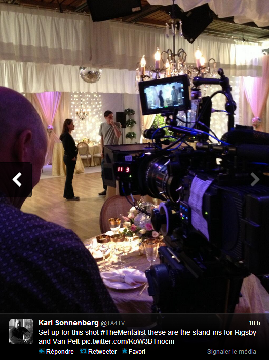 """The Mentalist 6x03 """"Wedding in Red"""" Photos inédites de la préparation de l'épisode (Twitter)"""