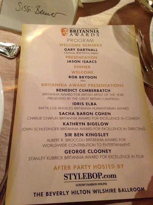 2013 BAFTA LA Jaguar Britannia Awards (09/11)