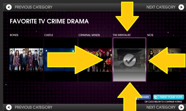 People's Choice Awards 2014 : vote for The Mentalist !!!