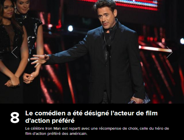 People's Choice Awards 2014 : Robert Downey Jr
