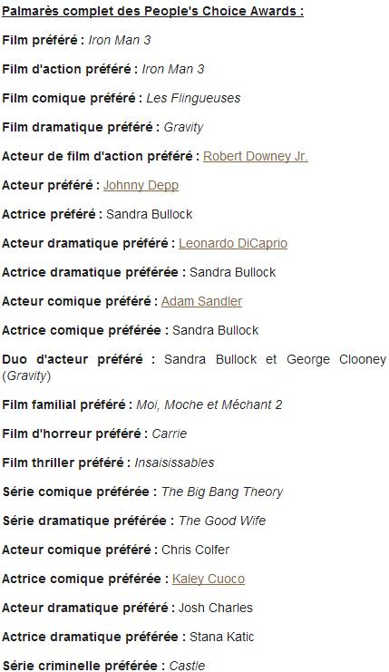 People's Choice Awards 2014 : Robert Downey Jr
