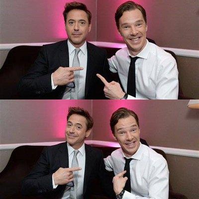 Robert Downey Jr photographié avec Benedict Cumberbatch ! Elle est pas belle la vie ?