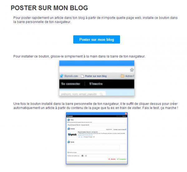 (TUTO) Comment poster immédiatement sur mon blog ?