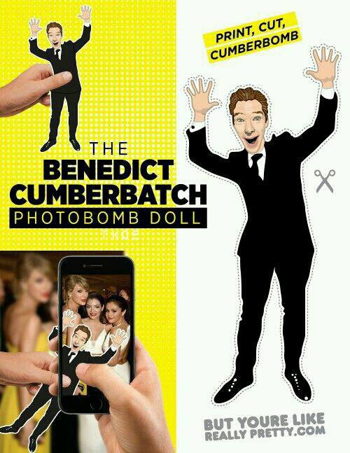 Utilisez le Benedict Cumberbatch Photobomb Doll partout avec vous dans tous vos clichés !