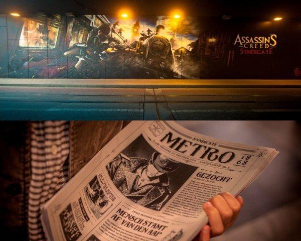 Un journal aux couleurs d'Assassin's Creed Syndicate pour sa sortie