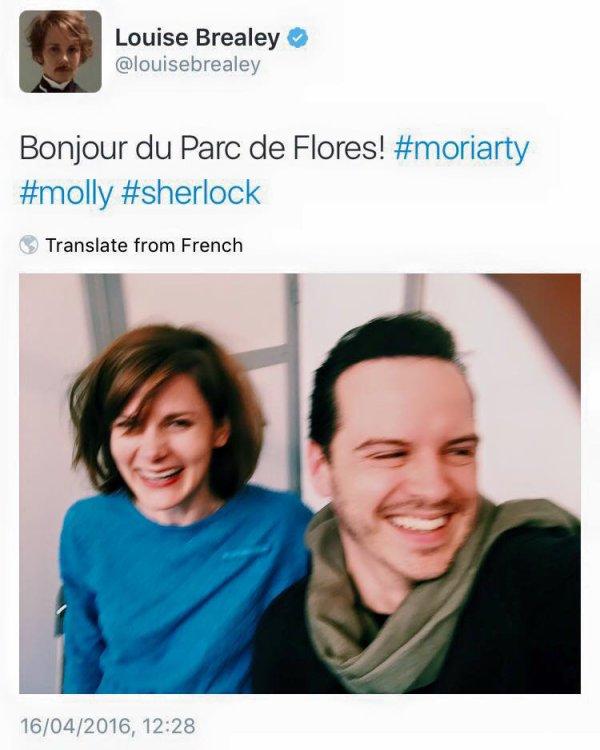 Andrew Scott et Louis Brealey à Paris