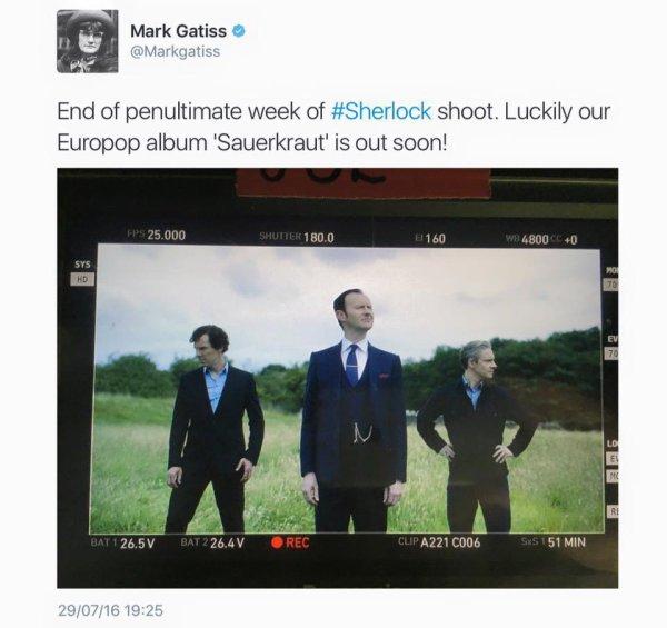 Sherlock Saison 4 : fin de tournage