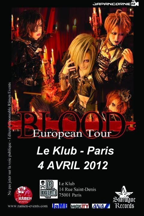 BLOOD Euro Tour 2012