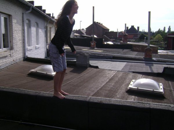 #Dancing on the roof.