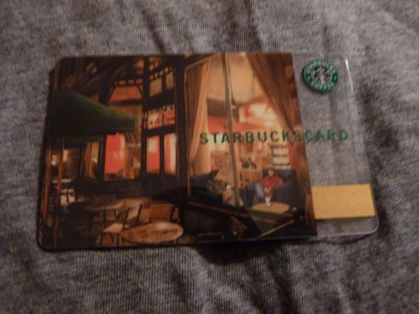 Carte cadeau Starbucks coffee ( proviens d'Amerique )