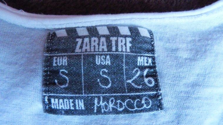 T shirt ZARA NEUF