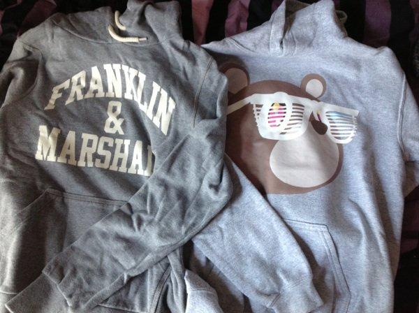 Sweats à capuches Franklin &m et kanye west