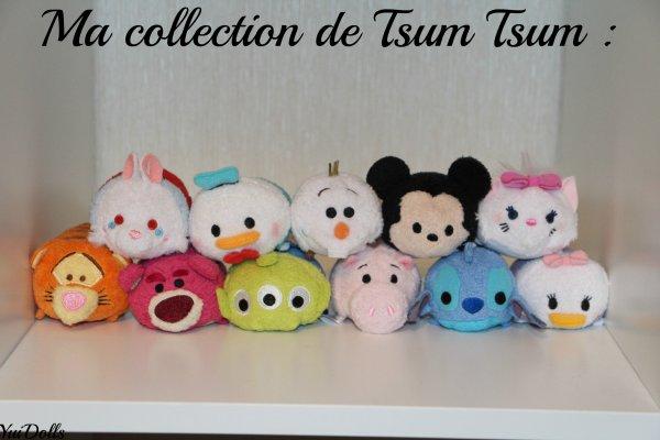Les Tsum Tsum que mon père m'a achetait Vendredi à Disney !
