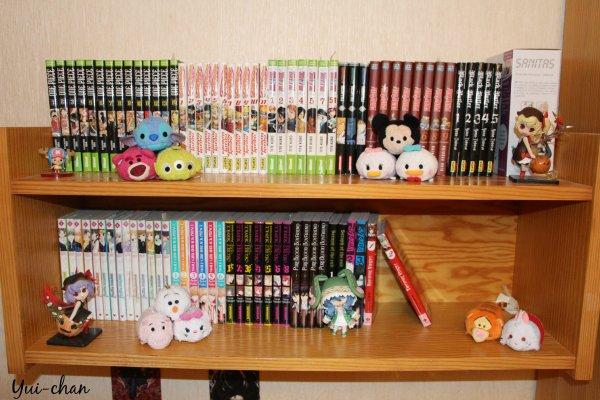 Mes Mangas actuel ! [Il manque 2 tomes sur la photo .. Gomen ><'