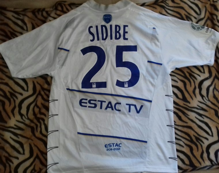 maillot estac 2011 2012 sidibé