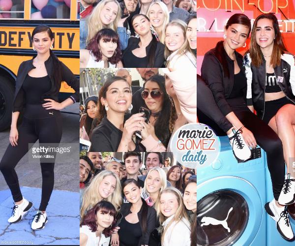 """. • 16/05/2018 : Notre belle Selena Gomez était présente à l'événement"""" Défy City """" de Puma à Los Angeles. On l'y voit avec ses fans et seule. Côté tenue : Elle porte une tenue sportive qui colle à l'événement. Ses formes sont mises en valeurs, et elle est très souriante. J'aime assez.  ."""